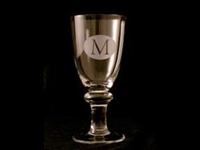 Etched Wine Goblet