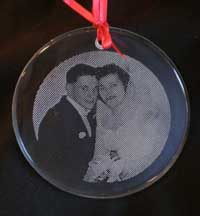 Photo etched ornament
